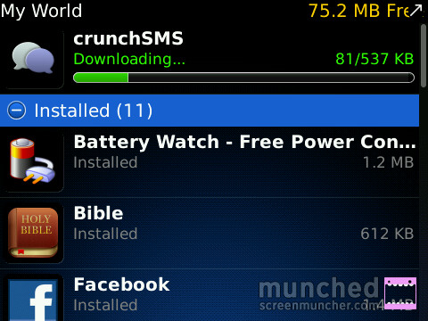 download crunchsms