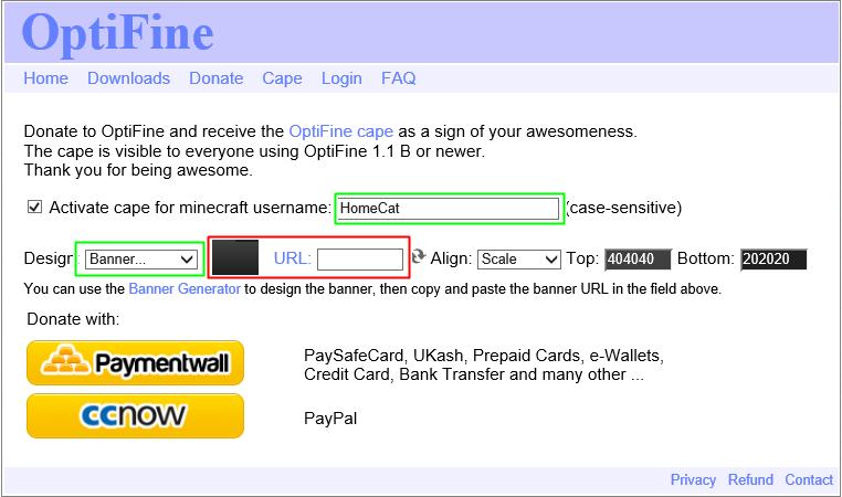 마인크래프트 옵티파인 망토구매 하는 방법 : 네이버 블로그