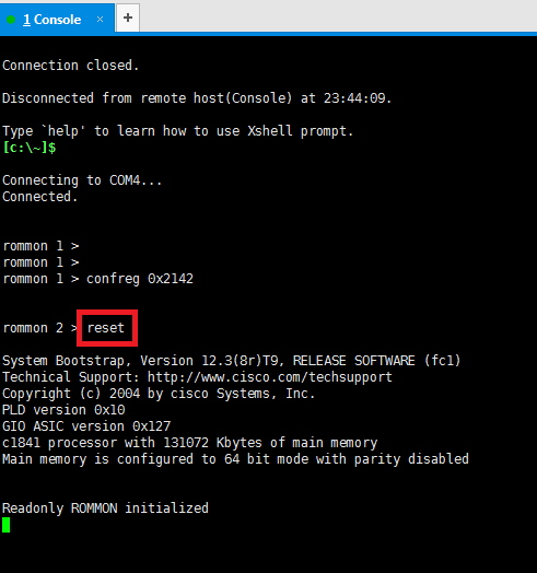 Network] Cisco Router/Switch 패스워드 복구(Password Recovery
